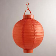 Battery Powered Orange Hanging Paper Lantern - Home Garden Decor Lamp