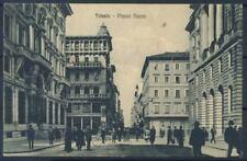 Triest 1900 Postkarte 100% neue, animierte, Piazza Nuova