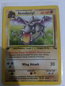 Aerodactyl 1/62 Prerelease Holo Rare Fossil Set 1st Edition Pokemon Card EX-NM