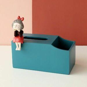 Cute Tissue Box Rectangular With Storage Organizer For Room Decor Paper Dispense