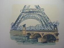 32 / AQUARELLE PARIS / Le pont d'Iéna et la Tour Effel