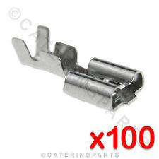 x 100 résistant à la chaleur haute température 6.3mm à clipser Palette Terminal