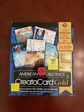 AMERICAN GREETINGS CREATACARD GOLD CREATE HOLIDAY XMAS GREETING CARDS INVITATION