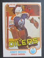 ANDY MOOG 1981-82 O-PEE-CHEE OPC #120 RC GOOD CONDITION NO CREASES OILERS