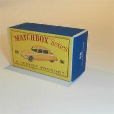 Matchbox Lesney 66 a Citroen DS19 Sedan empty Repro D style Box