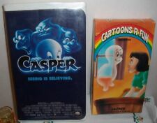 2 VINTAGE CASPER THE GHOST VHS TAPES MOVIE VIDEOS w/CASES~1995 & 1989~over 2 Hrs