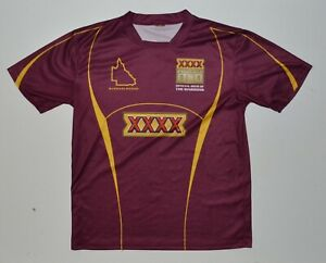 QLD Maroons State of Origin Rugby League Mens Training Shirt Size L