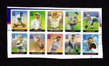 SCOTT # 3408 A-J Legends of Baseball Issue U.S. Stamps Used NH Block of 10