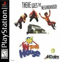 Complete WWF IN YOUR HOUSE - Original Sony PS1 Game