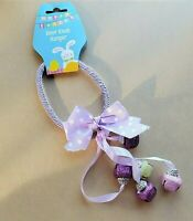 Easter Door Knob Hanger Purple Bunny Bells