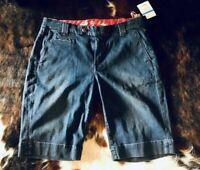 CJ by Cookie Johnson Comfort Trouser Denim Shorts Womens Sz 29 - Venus Blue $171