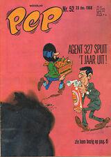 PEP 1968 nr. 52 - AGENT 327 (COVER)/TECNO F-S RACEWAGEN/VARIOUS COMICS