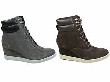 Wedge 100% Leather Wide (E) Boots for Women