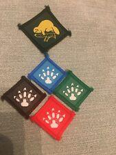 Irish Beaver Scout paw print badge Ireland Scouting 4 Set/beaver Footprint Trail