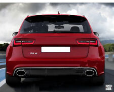 Metal Audi RS6 Maletero Insignia 3D Cromo Emblema Pegatina Trasero para A6 S6