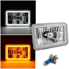 "4x6"" Switchback LED White DRL Halo / Amber Turn Signal Headlight Headlamp - Each"