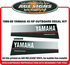 1986 1987 1988 1989 YAMAHA 40 HP OUTBOARD  DECAL SET  REPRODUCTION 50 HP ALS0