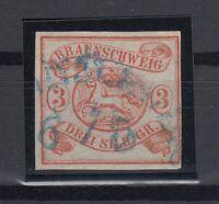 X2273/ GERMANY - BRUNSWICK – MI # 3 USED CERTIFICATE – CV 385 $