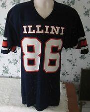 Illinois Fighting Illini Men's Football Jersey Small 86 Mesh Man Cave