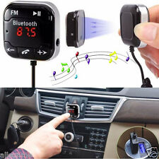 Kit Para Coche Inalámbrico Bluetooth Transmisor FM MP3 Reproductor USB SD LCD
