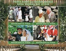 Chad 2018 CTO Prince Harry & Meghan Royal Wedding 4v M/S I Royalty Stamps