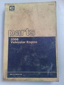 Caterpillar 3306 Vehicular engine parts manual. Genuine Cat book.