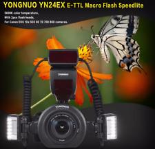 YONGNUO YN24EX E-TTL Macro Flash Speedlite Dual Light for Canon DSLR Camera I2B9