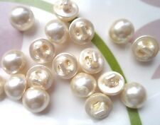 80pcs Buttons Round Half Ball Domed Sewing Faux Pearl Cream 10mm