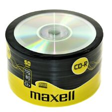 50 Maxell CD-R vierge enregistrable disques cd CDR Psy wraped vrac Pack de dégagement