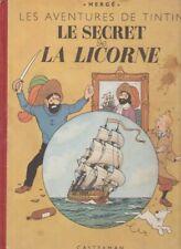 TINTIN- LE SECRET DE LA LICORNE -  DOS MONOCOLONNE 1945