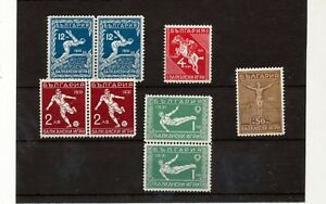BULGARIA 1931 Olympic Games Sport Soccer MNH (8 Stamps) (Bat 95s