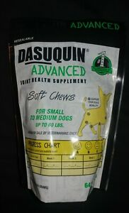 Dasuquin Advanced Soft Chews for Small/Medium Dogs Under 60lbs, 64 Ships1stDay!