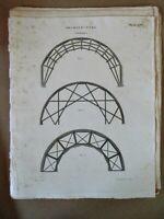 Vintage Engraving,ARCHITECTURE,Arch,Centers,Geometrics,1810