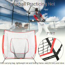 PowerNet DLX Baseball Softball 7x7 Practice Net Bundle w/Strike Zone, Ball Caddy