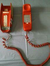 Bell Telephone vintageTrimline phone, burnt orange/rust color 6 ft cord