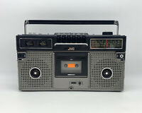 As Is Vintage Rare JVC Stereo Radio Cassette Recorder Boombox RC-717C Portable