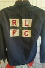 RARE Rugby Ralph Lauren R.L.F.C. long-sleeve Army Style shirt men sz M