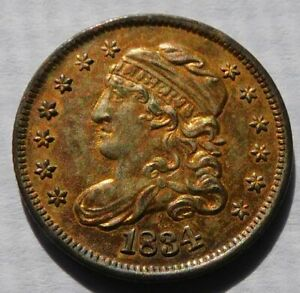 1834 Capped Bust Half Dime, Early Date 5C