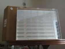 New in Box Carney Acrylic Wall Mounted Display Case 54 Compartments