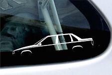 Voiture 2x silhouette autocollants-pour volvo S70, T5 r berline