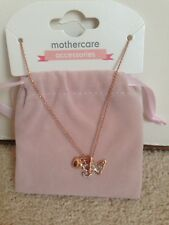 Brand New Mothercare Butterfly And Heart Necklace.Also A Letter S.