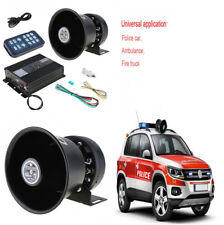 1 Set 400W 8 Tone Loud Car Warning Alarm Police Siren Horn+Speaker MIC System