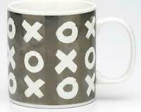 NEW Ecology XOX Hugs & Kisses Mugs 510ml - Grey Boxed FREE Post
