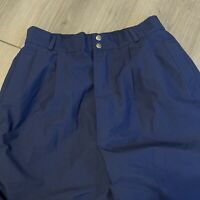 Gore Tex Vintage Pants Mens Mens Large Adult Navy Blue Pleated Water Proof USA