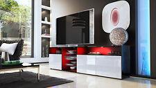 "Black High Gloss Modern TV Stand Unit Media Entertainment Center ""Granada V2"""