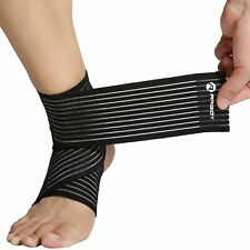 Ankle Support Brace Adjustable Elastic Foot Compression bandage Sports Safety Uk