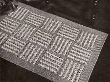 Vintage Crochet 15 Block Rug PATTERN ONLY