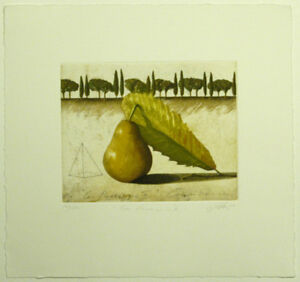 Wolfgang Zelmer, Con Paesaggio III, Original Graphik, NEU, Kunst, Geschenk