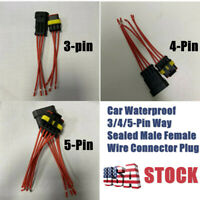 Waterproof Car 3/4/5Pin Way Sealed Male Female Electrical Wire Connector Plug