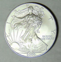 2000 American Silver Eagle 1 oz .999 Fine Silver Dollar Uncirculated